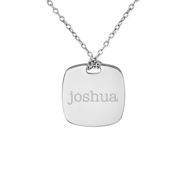 jcpenney.com | Personalized Sterling Silver 16mm Name Pendant Necklace