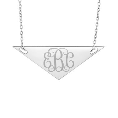 jcpenney.com | Personalized Sterling Silver Monogram Triangle Necklace