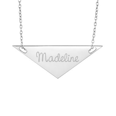 jcpenney.com | Personalized Sterling Silver Name Triangle Necklace