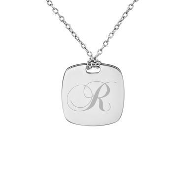 jcpenney.com | Personalized Sterling Silver 16mm Initial Pendant Necklace