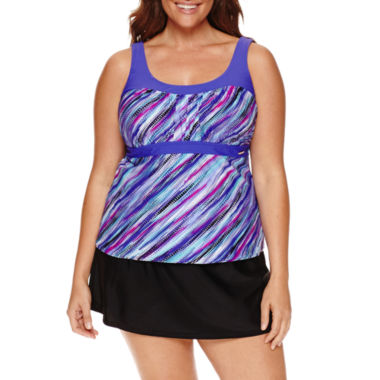jcpenney.com | ZeroXposur Deluge Peasant Tankini or Knit Action Skirtini