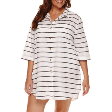 jcpenney.com | a.n.a Stripe Cotton Dress Plus