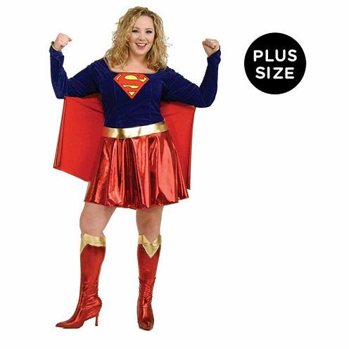Supergirl 3-pc. DC Comics Dress Up Costume Plus