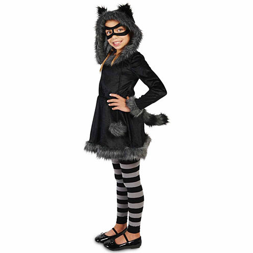 Buyseasons Racoon With Tights 4-pc. Dress Up Costume