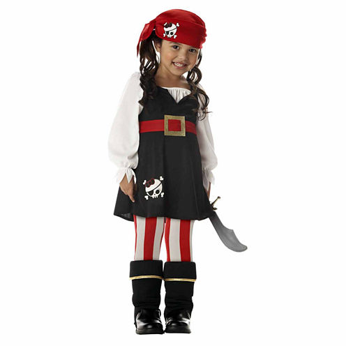 Precious Little Pirate 4-pc. Dress Up Costume