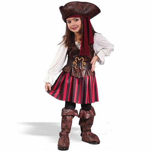 High Seas Buccaneer Girl Toddler 5-pc. Dress Up Costume