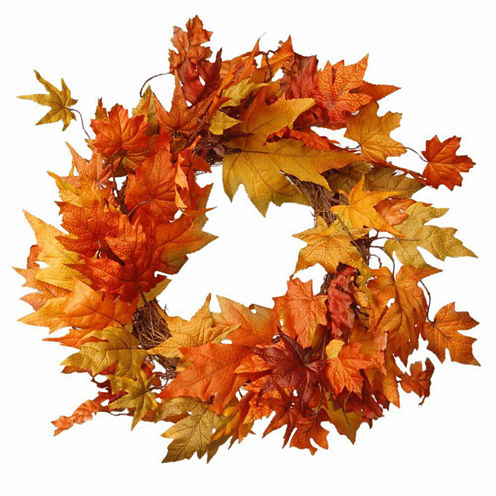 National Tree Co. 24 Inch Maples Wreath