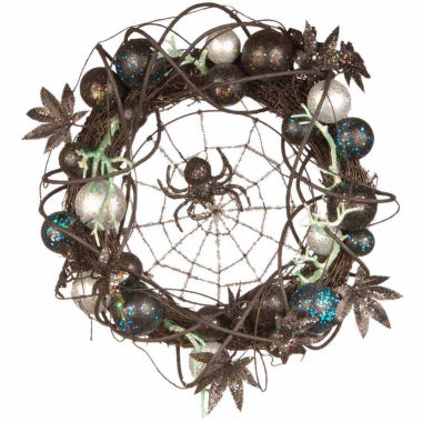 jcpenney.com | National Tree Co. 18 Inch Black Spider Wreath