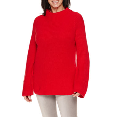 jcpenney.com | Sag Harbor Long Sleeve Mockneck Shaker Stitch Sweater