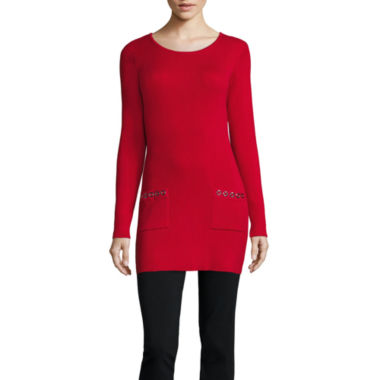 jcpenney.com | Alyx Long Sleeve Scoop Neck Pullover Sweater