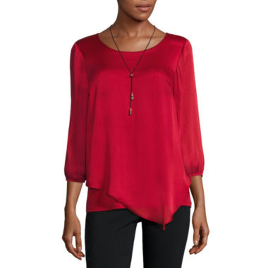 jcpenney.com | Alyx Long Sleeve Scoop Neck Blouse