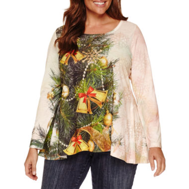 jcpenney.com | Unity World Wear Long Sleeve Scoop Neck T-Shirt-Plus