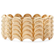 Liz Claiborne Hammered Gold-Tone Stretch Bracelet