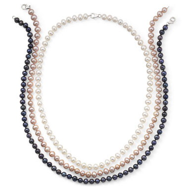 jcpenney.com | 3-Pc. Cultured Freshwater Pearl Strand Necklace Set