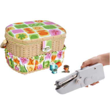 jcpenney.com | Michley 42-pc. Sewing Basket & Handheld ZDML 2 Sewing Machine
