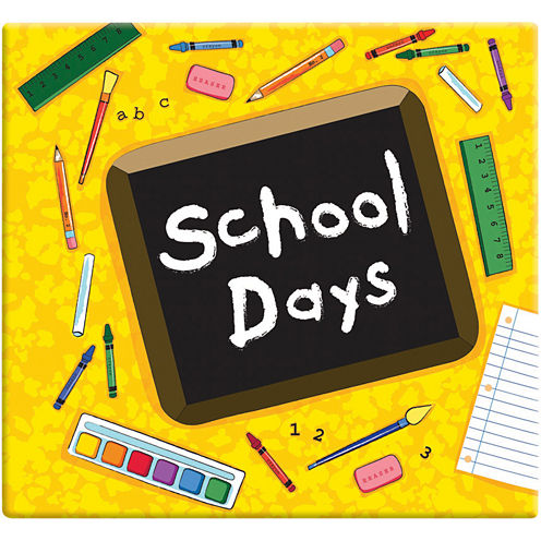 School Days Scrapbook Album – Yellow