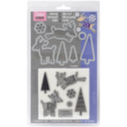 Sizzix® Framelits™ Dies, 7-pc. Reindeer Clear Stamps Set