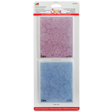 jcpenney.com | Sizzix® Textured Impressions™ 2-pk. Flowers/Paisley Embossing Folders