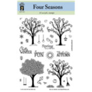 Acrylic Stamps – Four Seasons Trees