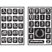 Reusable Glass-Etching Alphabet and Numbers Stencils