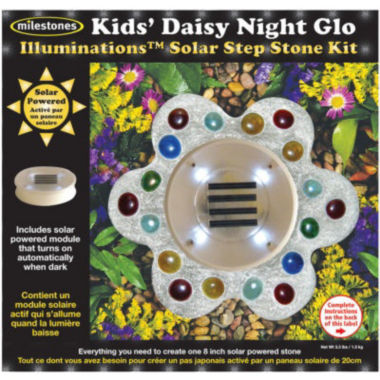 jcpenney.com | Kids Daisy Night Glo Solar Step Stone Kit