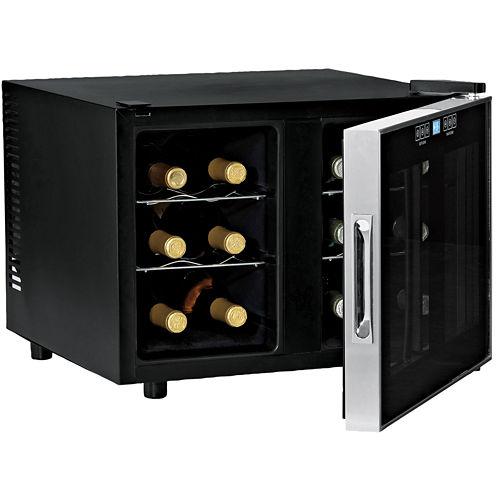 Wine Enthusiast® 12-Bottle Silent Dual Zone Touchscreen Wine Refrigerator