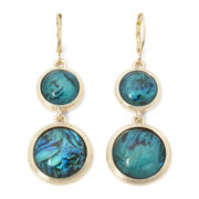 Monet® Gold-Tone Abalone Shell Drop Earrings