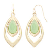 Liz Claiborne® Green Stone Orbital Earrings