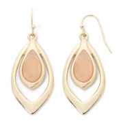 Liz Claiborne Pink Stone Orbital Earrings