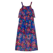 Disorderly Kids® Floral Chiffon Maxi Dress - Girls 7-16