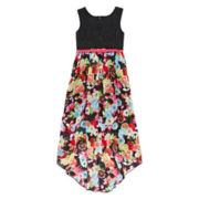 Disorderly Kids® Crochet Lace Floral Chiffon Dress - Girls 7-16