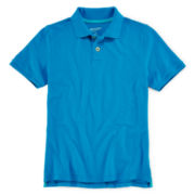 Arizona Short-Sleeve Solid Knit Polo – Boys 8-20 and Husky