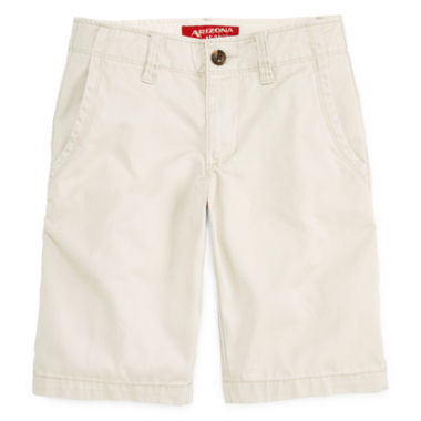 jcpenney.com | Arizona Solid Twill Chino Shorts - Boys 8-20, Slim and Husky