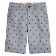 Arizona Print Twill Chino Shorts – Boys 8-20, Slim and Husky