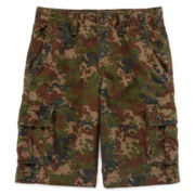 Arizona Twill Camo Cargo Shorts – Boys 8-20, Slim and Husky