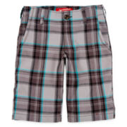Arizona Plaid Chino Cargo Shorts – Boys 8-20, Slim and Husky