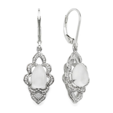 jcpenney.com | Genuine Moonstone and Lab-Created White Sapphire Earrings
