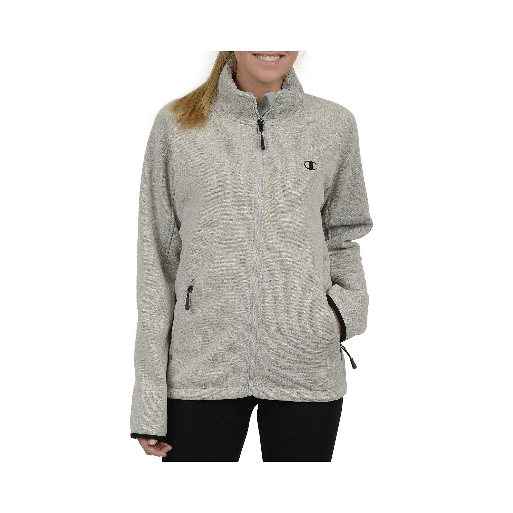 Champion Sweater Fleece Jacket - Plus plus size,  plus size fashion plus size appare