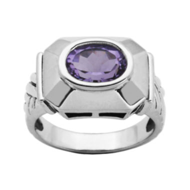 jcpenney.com | Genuine Brazilian Amethyst Oxidized Sterling Silver Ring