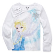 Disney Apparel by Okie Dokie® Long-Sleeve Frozen Tee - Preschool Girls 4-6x