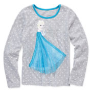 Disney Apparel by Okie Dokie® Long-Sleeve Elsa Tee - Preschool Girls 4-6x