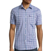Claiborne® Short-Sleeve Slim-Fit Woven Shirt