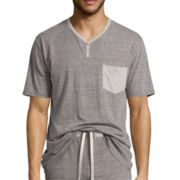 Stafford® Knit Y-Neck Sleep Shirt