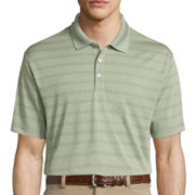 Haggar® Short-Sleeve Striped Poly Polo