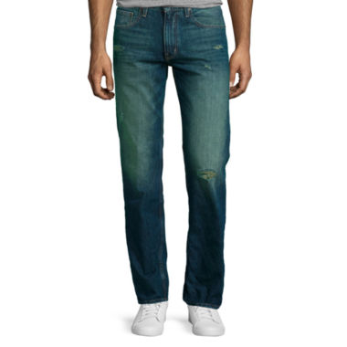 jcpenney.com | Arizona Slim Straight Destructed Jeans