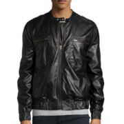 WD.NY Faux-Leather Moto Jacket
