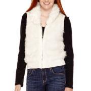 Arizona Zip-Front Faux-Fur Vest