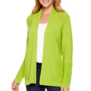 Liz Claiborne® Long-Sleeve Open-Front Cardigan