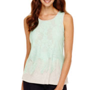 a.n.a® Lace Fringe Tank Top