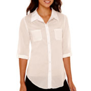 Alyx® Long-Sleeve Tie-Front Top